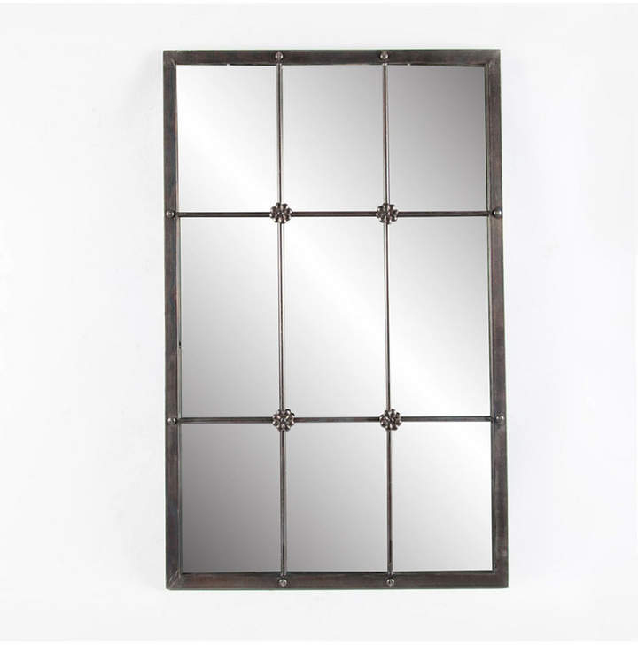 Luxen Home Metal Window Frame Wall Mirror In 2 Piece Kissena Window Pane Accent Mirror Sets (#16 of 20)