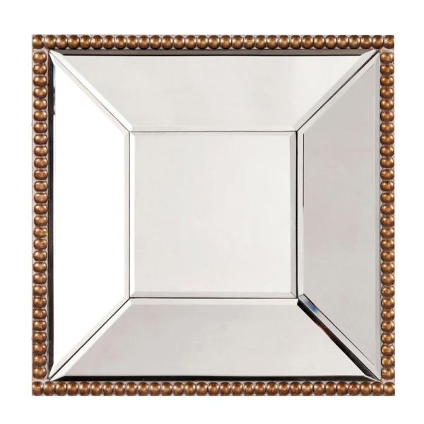Lydia Square Mirror 99076 – The Home Depot Within Lidya Frameless Beveled Wall Mirrors (#13 of 20)