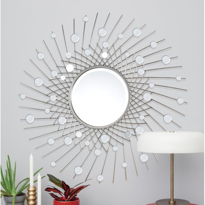 Inspiration about Maclachlan Glam Beveled Accent Mirror Throughout Glam Beveled Accent Mirrors (#10 of 20)