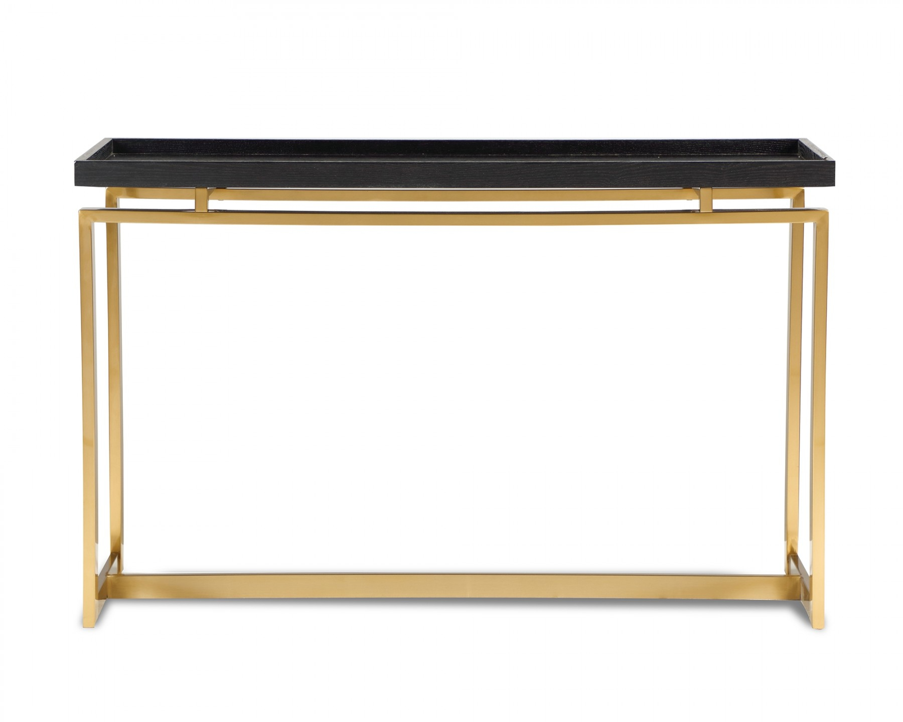 Inspiration about Malcom Black Ash & Brass Console Table Inside Current Malcom Buffet Table (#18 of 20)