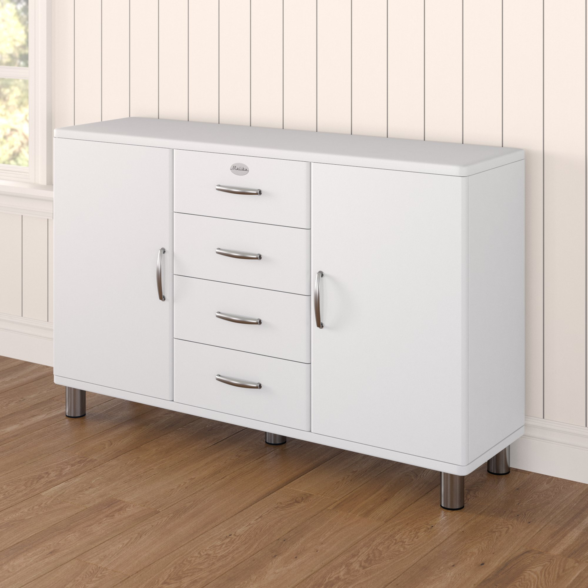 Inspiration about Malibu 2 Door 4 Drawer Sideboard Pertaining To Current Malibu 2 Door 1 Drawer Sideboards (#5 of 20)