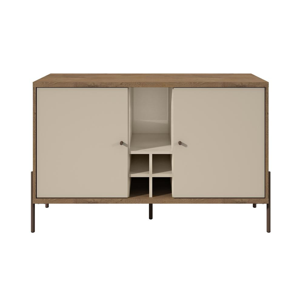 Inspiration about Manhattan Comfort Joy Off White 4 Bottle Wine Buffet Stand With Regard To Newest Serafino Media Credenzas (#15 of 20)