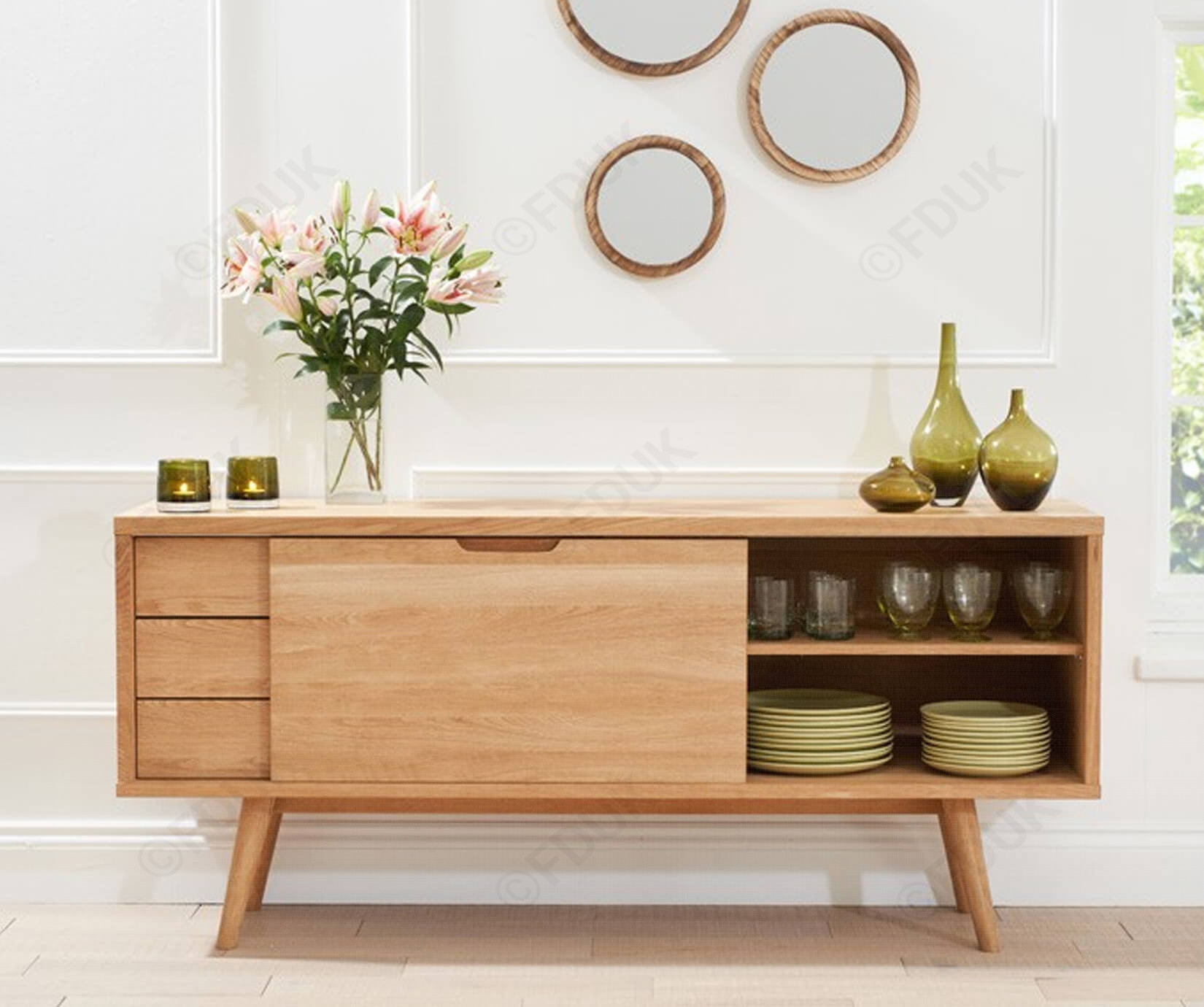 Inspiration about Mark Harris Tribeca Solid Oak Sideboard With Regard To 2018 Tribeca Sideboards (#14 of 20)