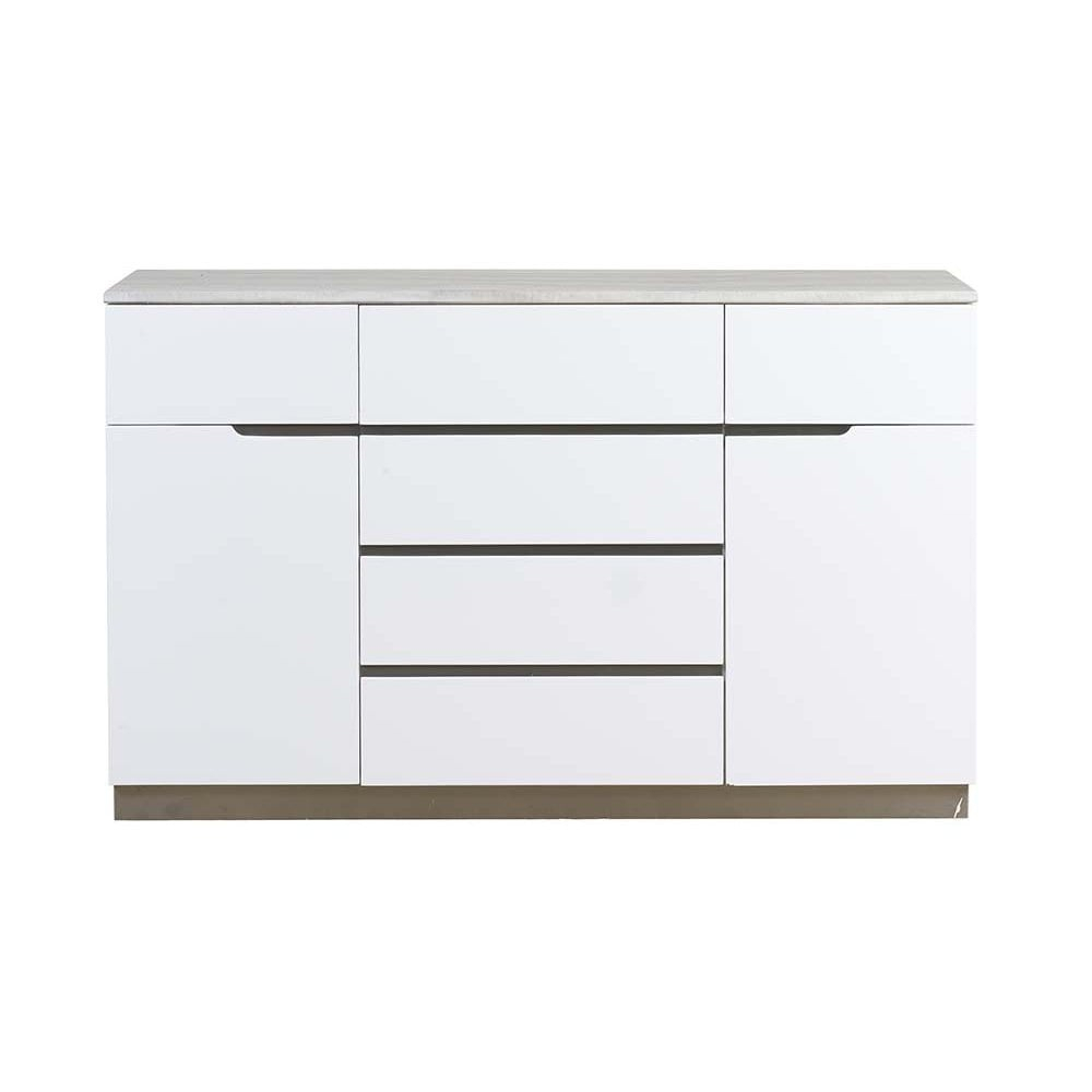 Inspiration about Mark Webster Milano Two Door, Six Drawer Sideboard With Marble Top Throughout Most Current Gosport Sideboards (#19 of 20)