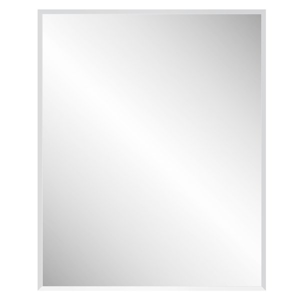 Marylee Rectangle Beveled Polish Frameless Wall Mirror With Hooks Throughout Rectangle Pewter Beveled Wall Mirrors (#8 of 20)