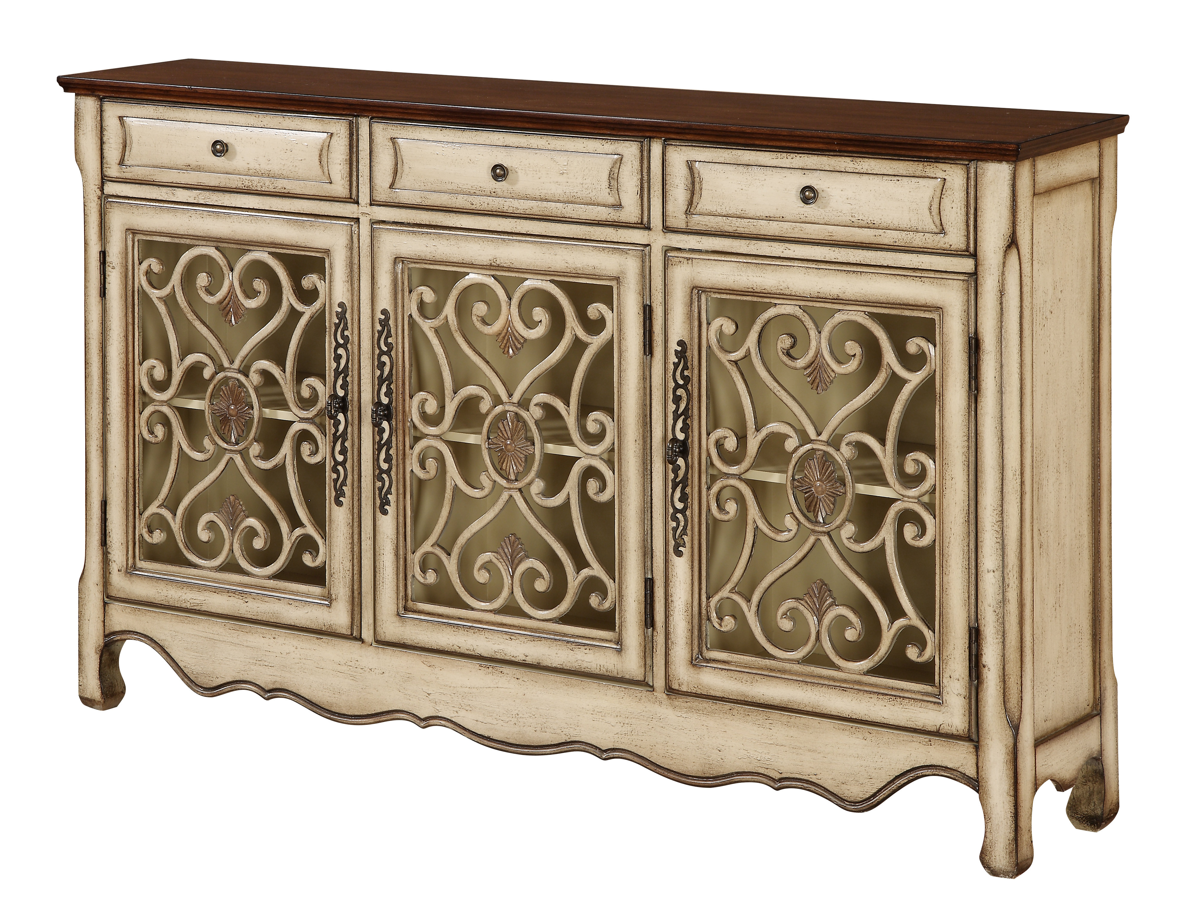 Inspiration about Mauzy Sideboard Intended For Best And Newest Ilyan Traditional Wood Sideboards (#3 of 20)