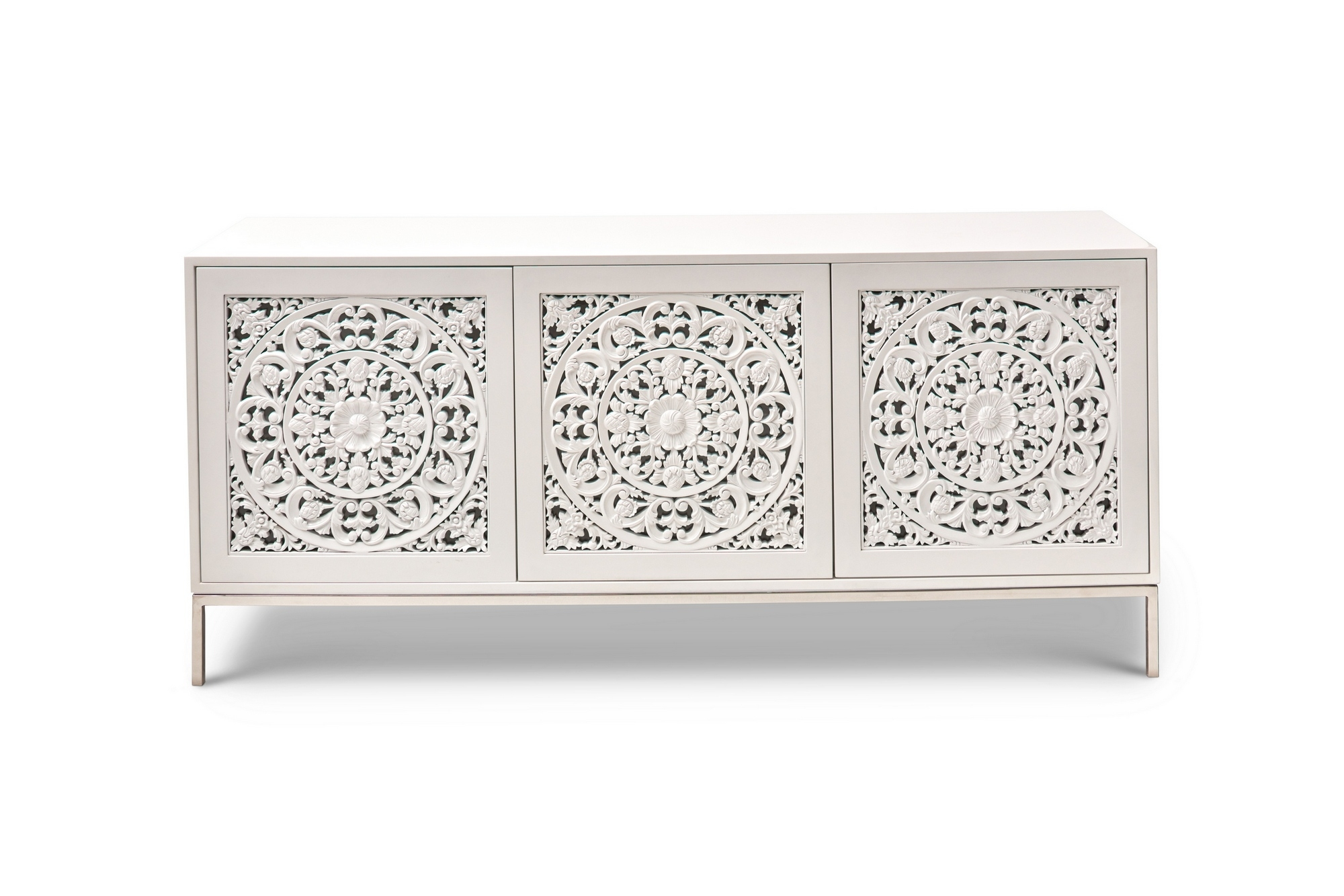 Maya White Sideboard / Buffet Inside Latest Thite Sideboards (View 12 of 20)