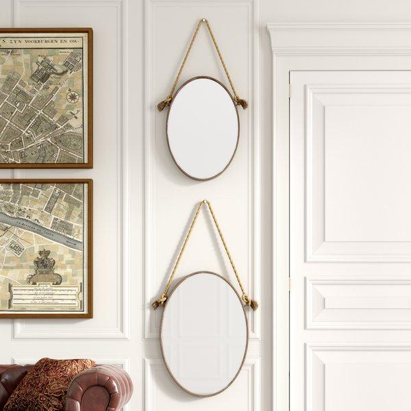 Inspiration about Metal Rope Mirror | Wayfair Throughout Koeller Industrial Metal Wall Mirrors (#20 of 20)