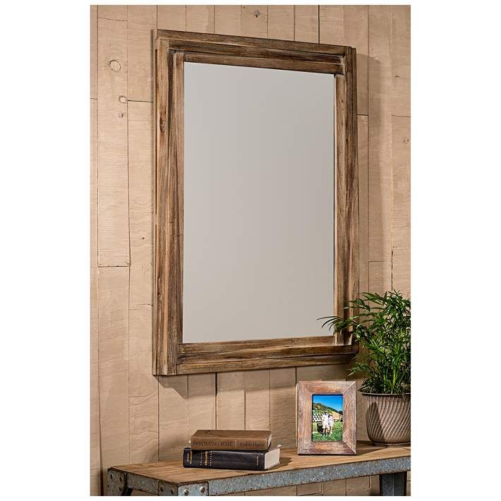 """Mia Reclaimed Wood 30"""" X 40"""" Wall Mirror – #20H77 