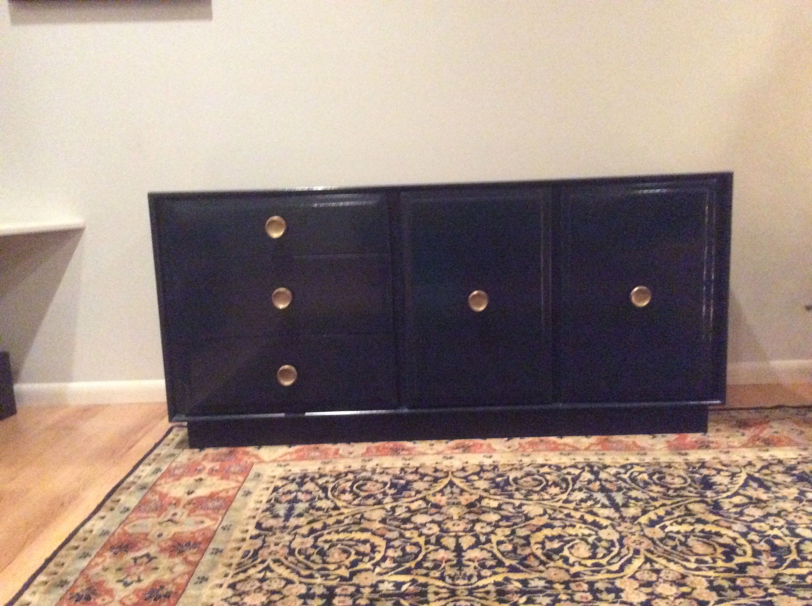 Inspiration about Mid Century Refurnished Sideboard. Navy Laquer With Round In Most Current Gertrude Sideboards (#9 of 20)