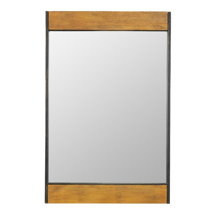 Miranda Wood And Metal Wall Mirror Pertaining To Derick Accent Mirrors (#14 of 20)