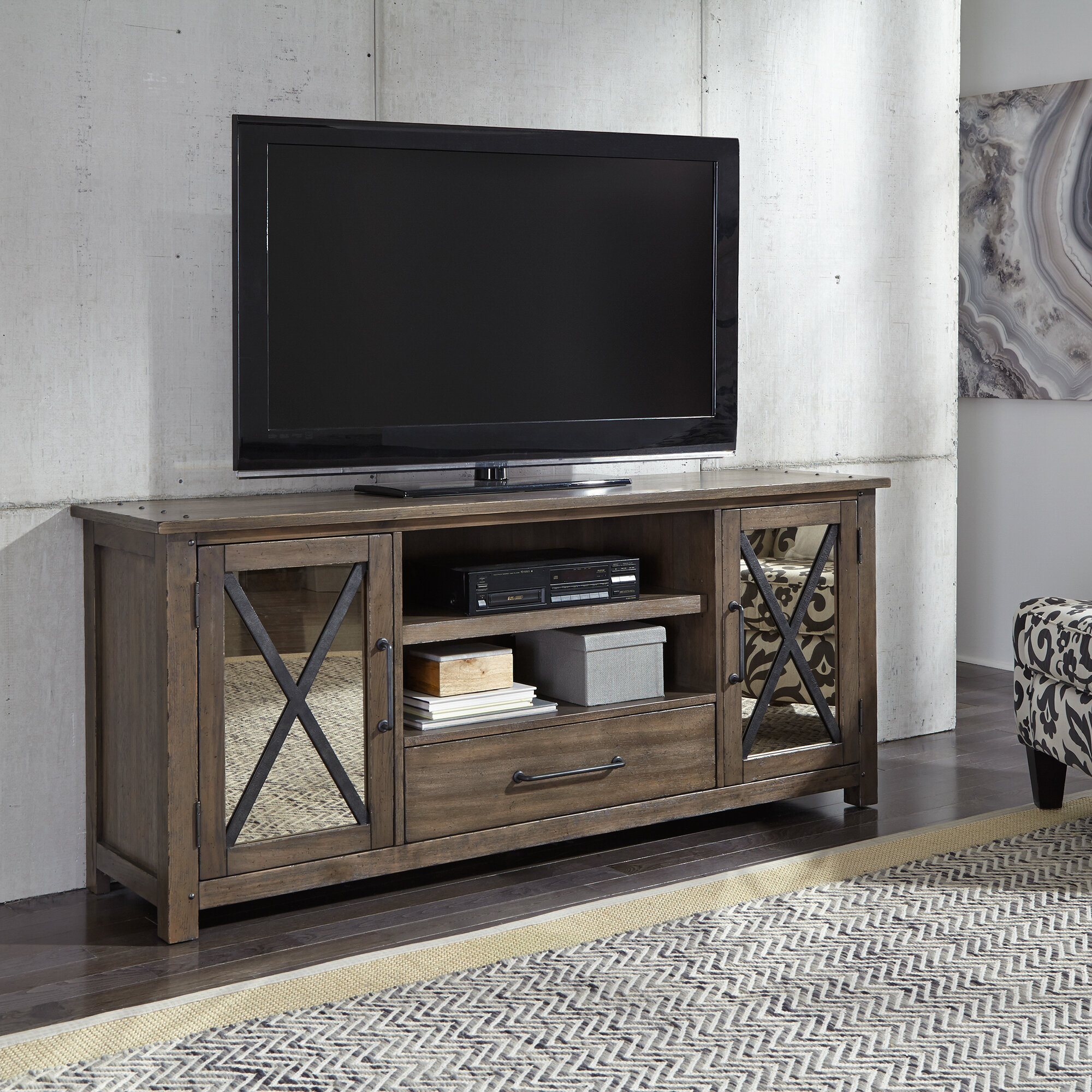"Inspiration about Mirrored Tv Stands You'll Love In 2019 | Wayfair In Current Parmelee Tv Stands For Tvs Up To 65"" (#20 of 20)"