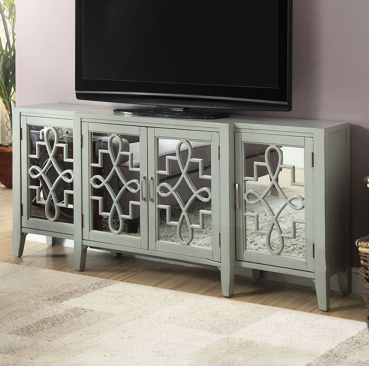 "Inspiration about Mirrored Tv Stands You'll Love In 2019 | Wayfair Regarding Latest Parmelee Tv Stands For Tvs Up To 65"" (#16 of 20)"