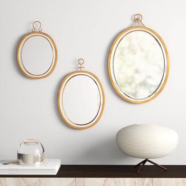 Inspiration about Modern & Contemporary 3 Piece Wall Mirror Set | Allmodern Regarding 3 Piece Dima Hanging Modern & Contemporary Mirror Sets (#15 of 20)