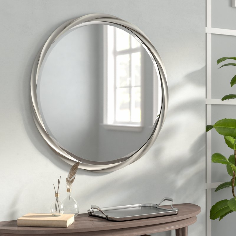 Inspiration about Modern & Contemporary Beveled Accent Mirror Regarding Modern & Contemporary Beveled Accent Mirrors (#2 of 20)