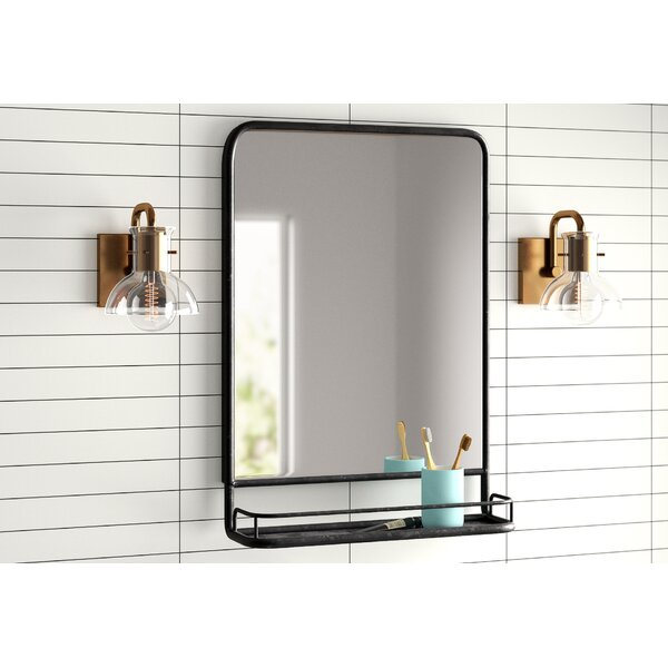 Modern & Contemporary Black Metal Framed Mirror | Allmodern Throughout Peetz Modern Rustic Accent Mirrors (#4 of 20)