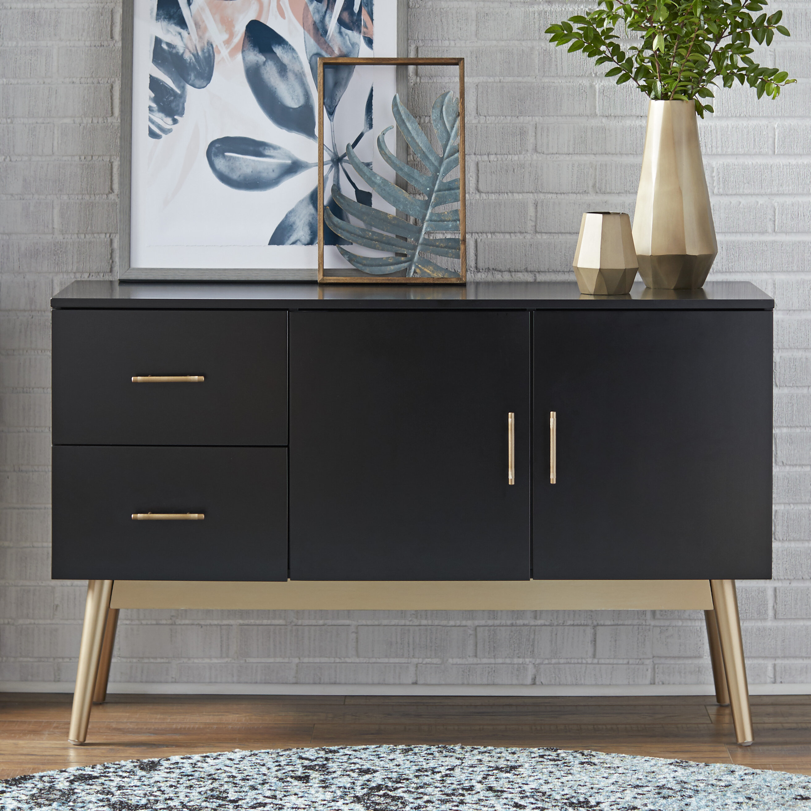 Inspiration about Modern & Contemporary High Gloss Black Sideboard | Allmodern Inside Most Up To Date Armelle Sideboards (#11 of 20)