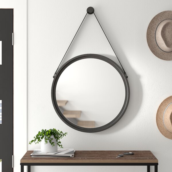 Inspiration about Modern & Contemporary Kentwood Round Wall Mirror | Allmodern Regarding Tata Openwork Round Wall Mirrors (#13 of 20)