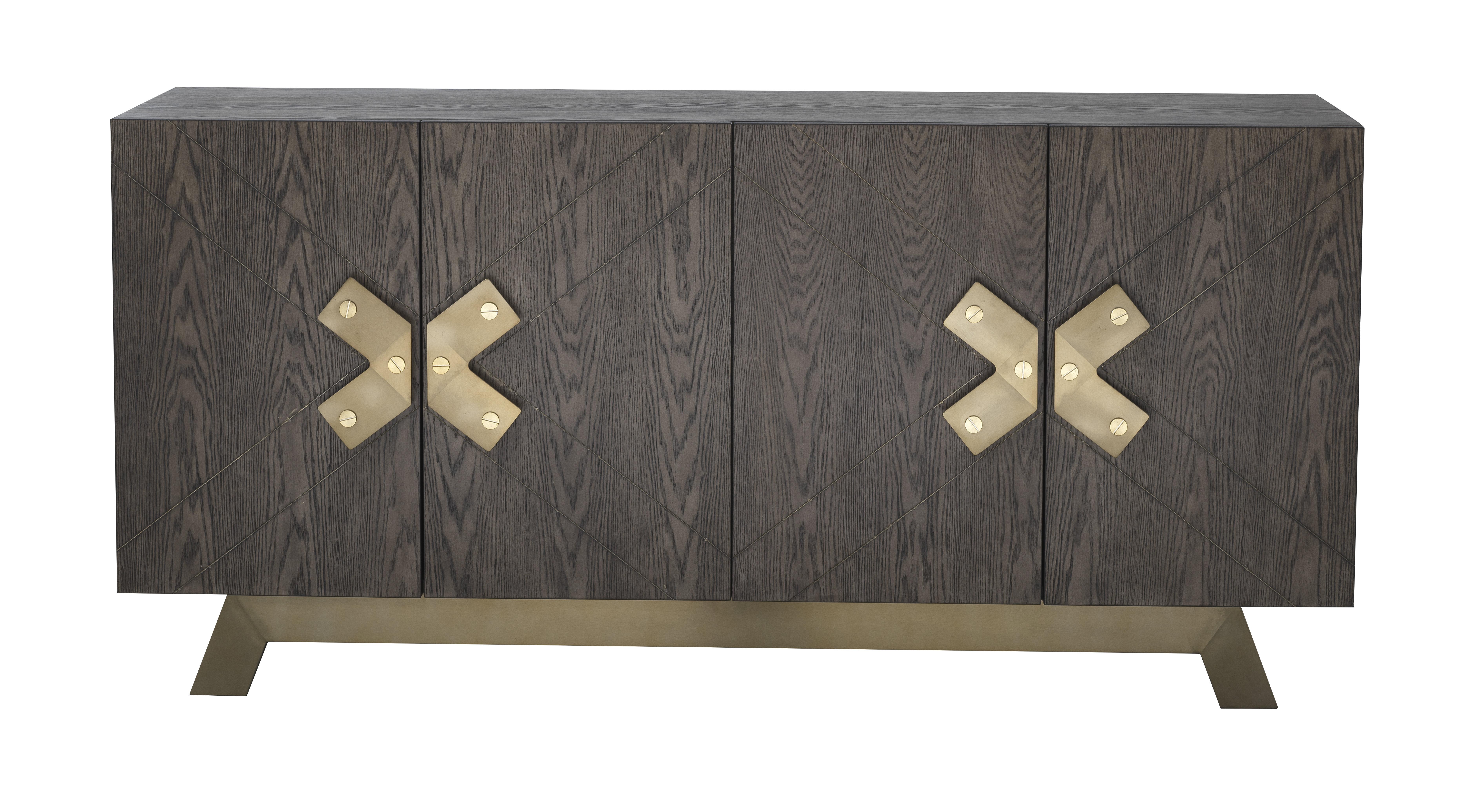 Modern & Contemporary Kieth 4 Door Credenza | Allmodern Inside Newest Kieth 4 Door Credenzas (View 6 of 20)