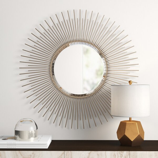 Modern & Contemporary Sunburst Mirror Set | Allmodern In Deniece Sunburst Round Wall Mirrors (#11 of 20)