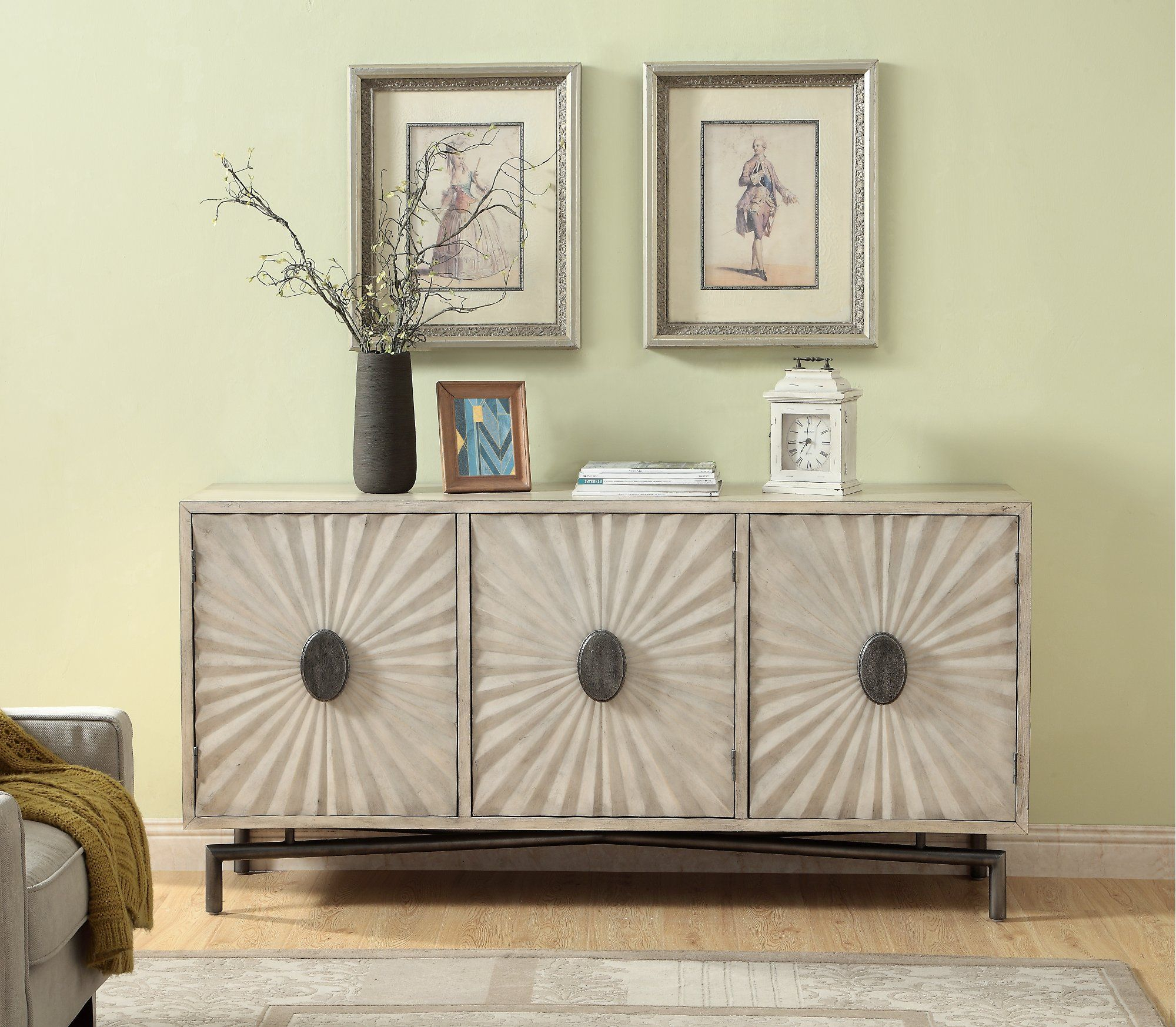 Modern Cream 3 Door Credenza – Dayton | Rc Willey Furniture For Recent Errol Media Credenzas (#18 of 20)
