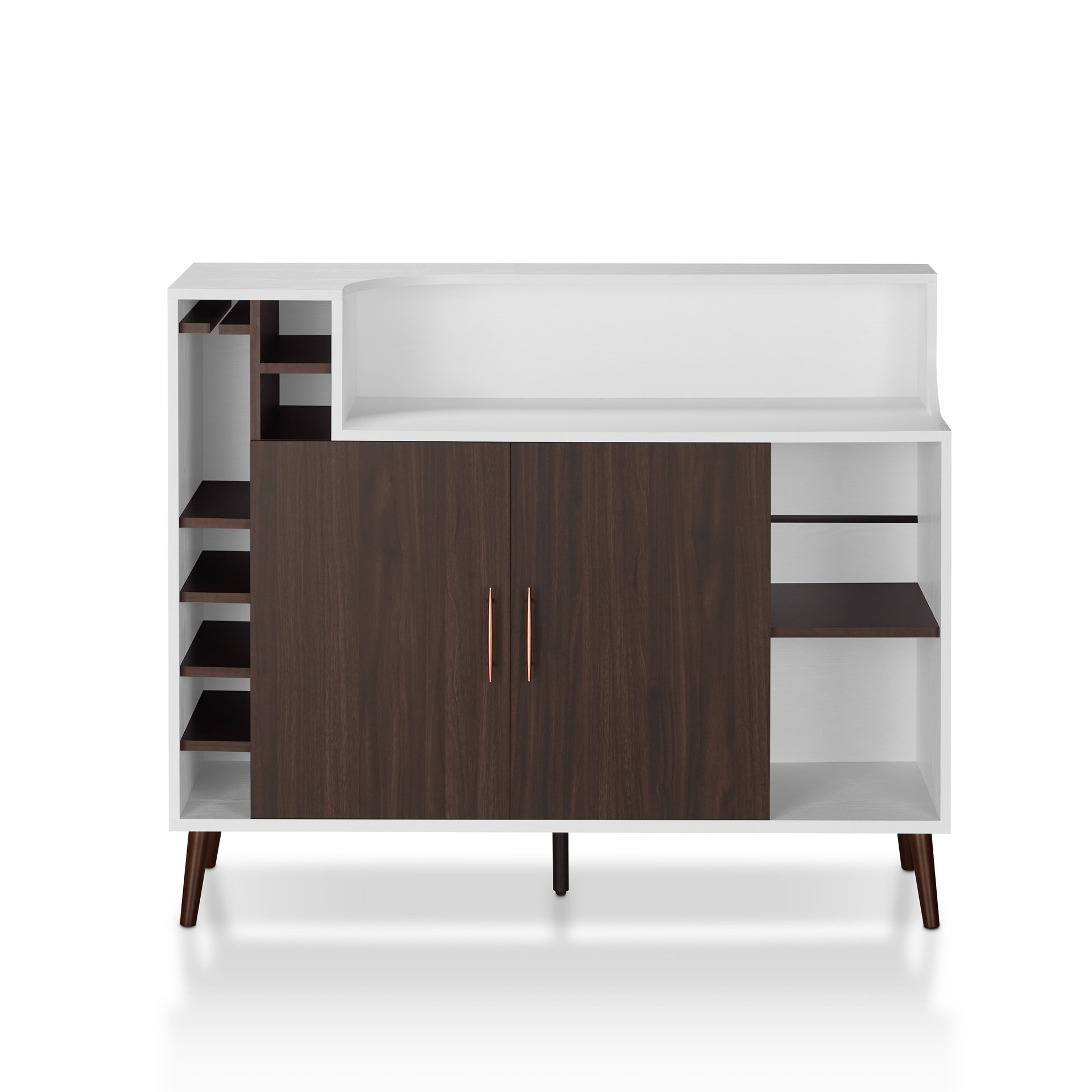 Inspiration about Modern Geometric White 4Door Credenza Credenza T Pertaining To Current Elyza Credenzas (#20 of 20)