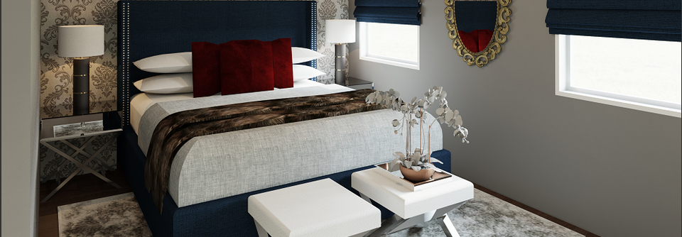 Inspiration about Modern Master Bedroom | Decorilla Inside Broadmeadow Glam Accent Wall Mirrors (#18 of 20)