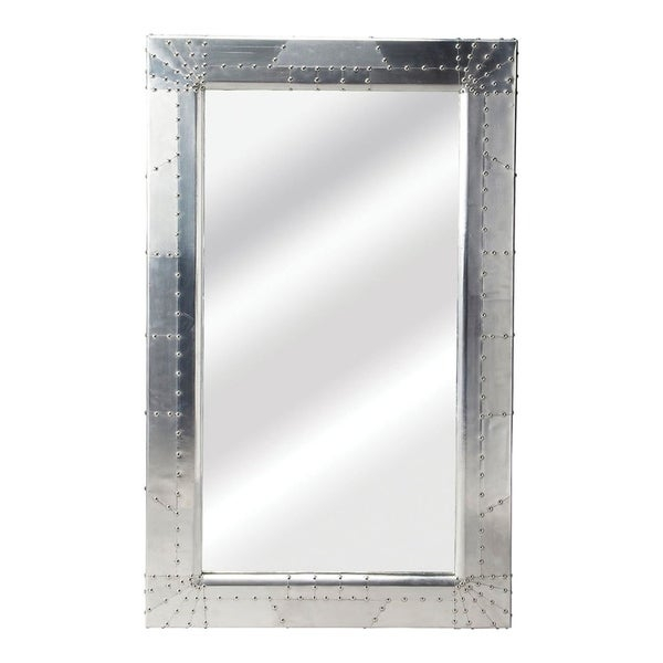 Inspiration about Modern Rectangular Aluminium Midway Aviator Wall Mirror – Silver – N/a In Modern Rectangle Wall Mirrors (#18 of 20)
