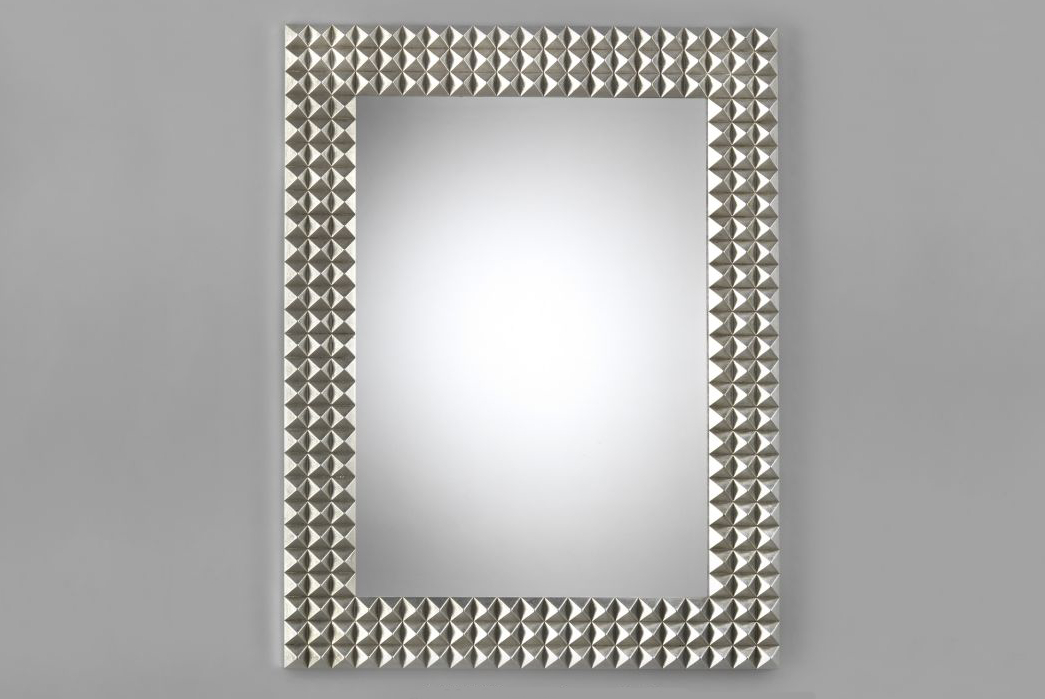 Inspiration about Modern Rectangular Mirror – Silver Wood Frame – Luxury Decor Within Silver Frame Accent Mirrors (#11 of 20)