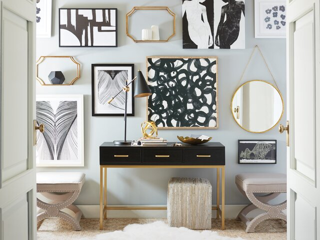 Modern Wall Mirrors | Allmodern Inside Rectangle Ornate Geometric Wall Mirrors (#10 of 20)