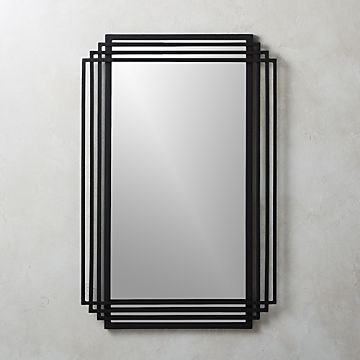 Modern Wall Mirrors: Round, Square & More | Cb2 With Rectangle Ornate Geometric Wall Mirrors (#11 of 20)