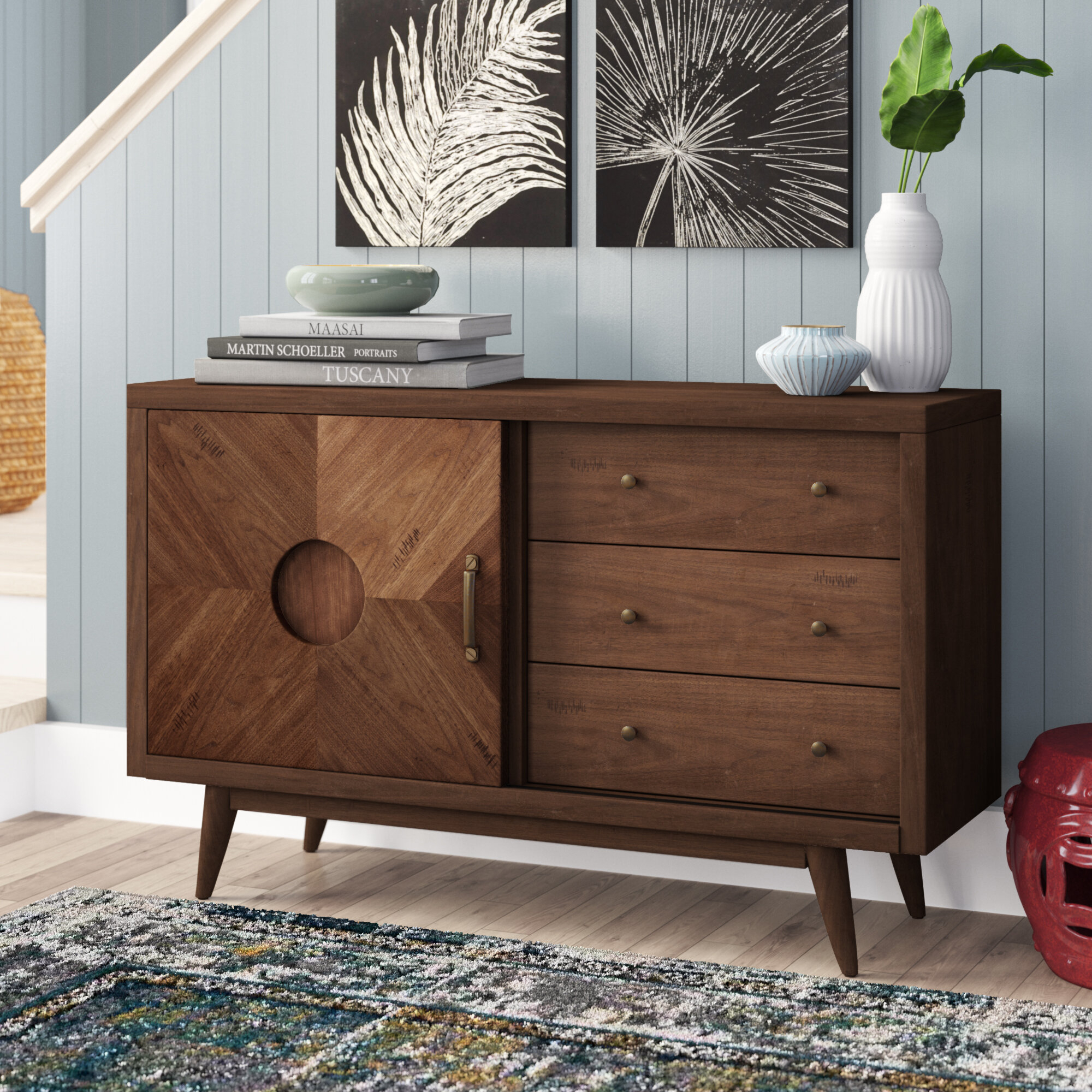 Inspiration about Monroe Sideboard Intended For 2017 Keiko Modern Bookmatch Sideboards (#12 of 20)
