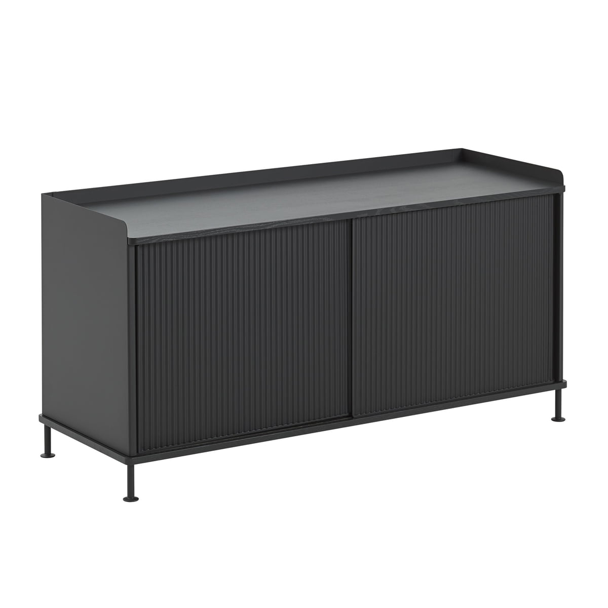 Inspiration about Muuto Enfold Muuto Sideboard Niedrigschwarz Sideboard Enfold Pertaining To Most Recently Released Alegre Sideboards (#17 of 20)
