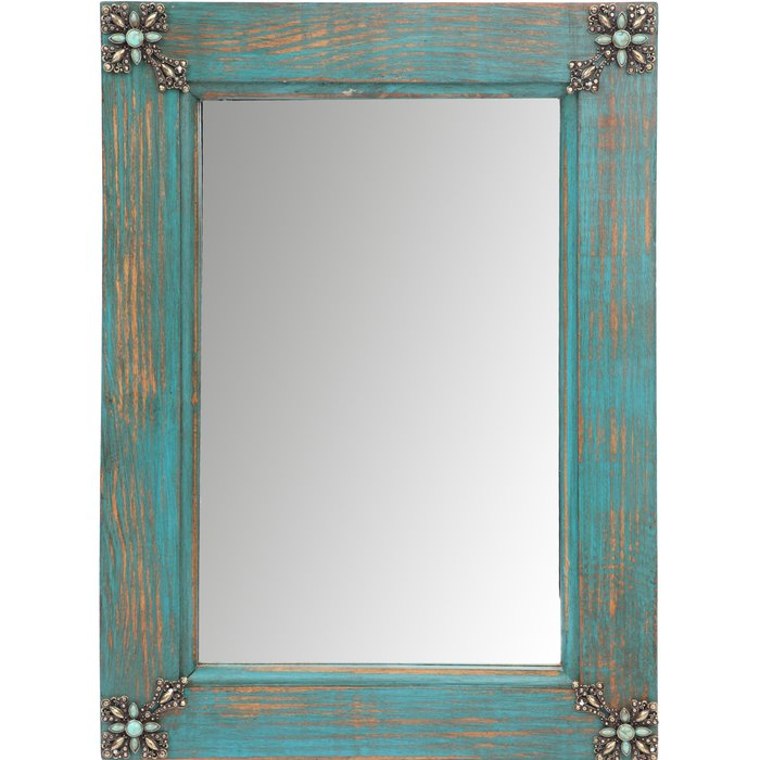 Inspiration about Myamigosimports Concho Cross Rustic Accent Mirror & Reviews Regarding Glynis Wild West Accent Mirrors (#16 of 20)