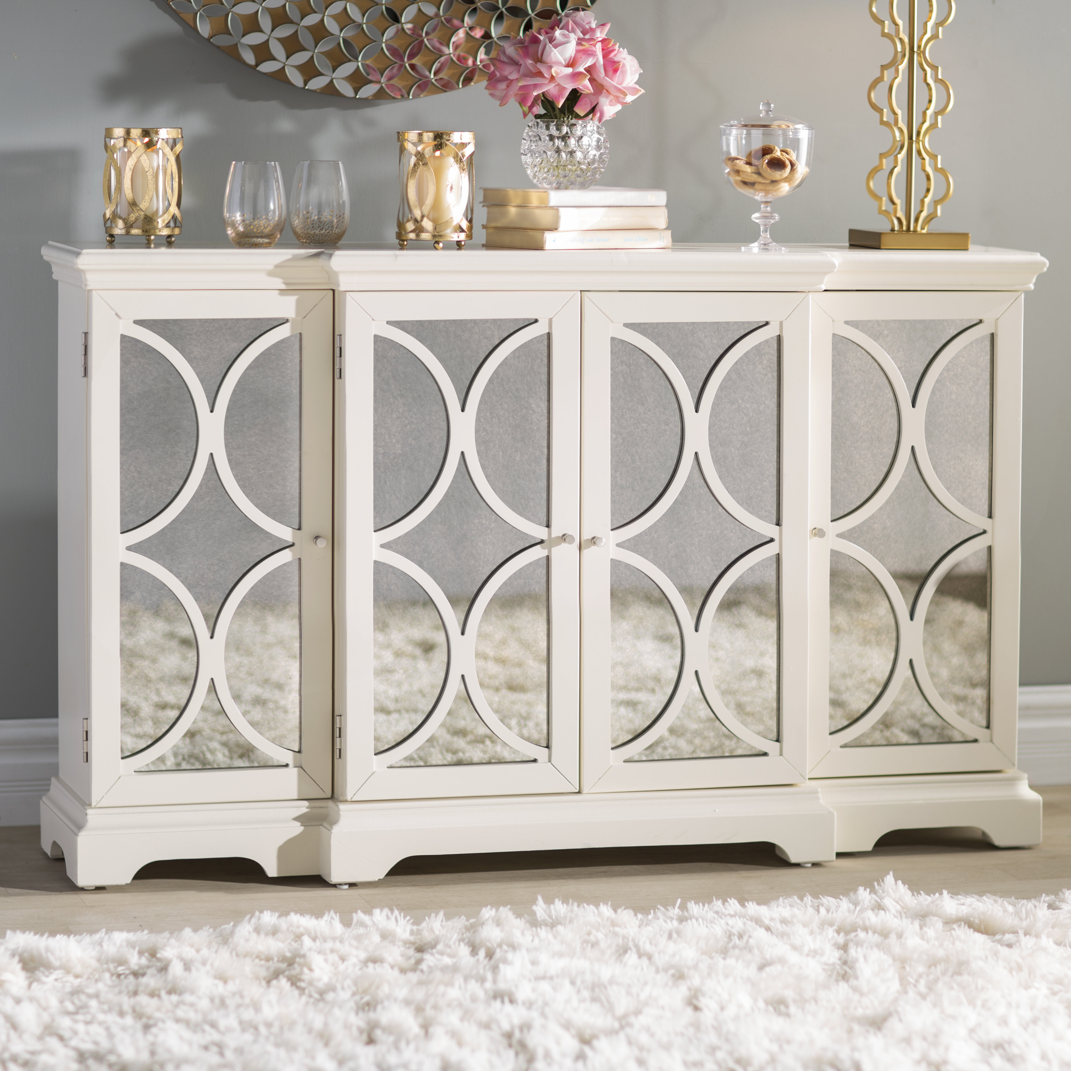 Narrow Credenza | Wayfair Pertaining To Latest Candace Door Credenzas (View 6 of 20)