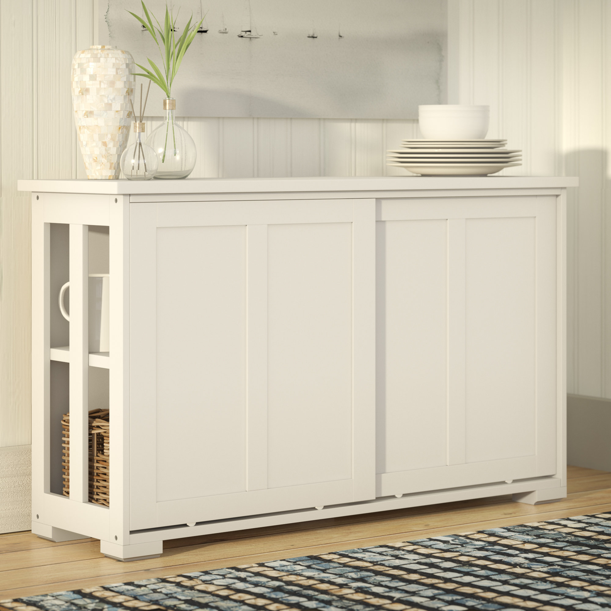Narrow Dining Room Sideboards | Wayfair For Best And Newest Pineville Dining Sideboards (View 19 of 20)