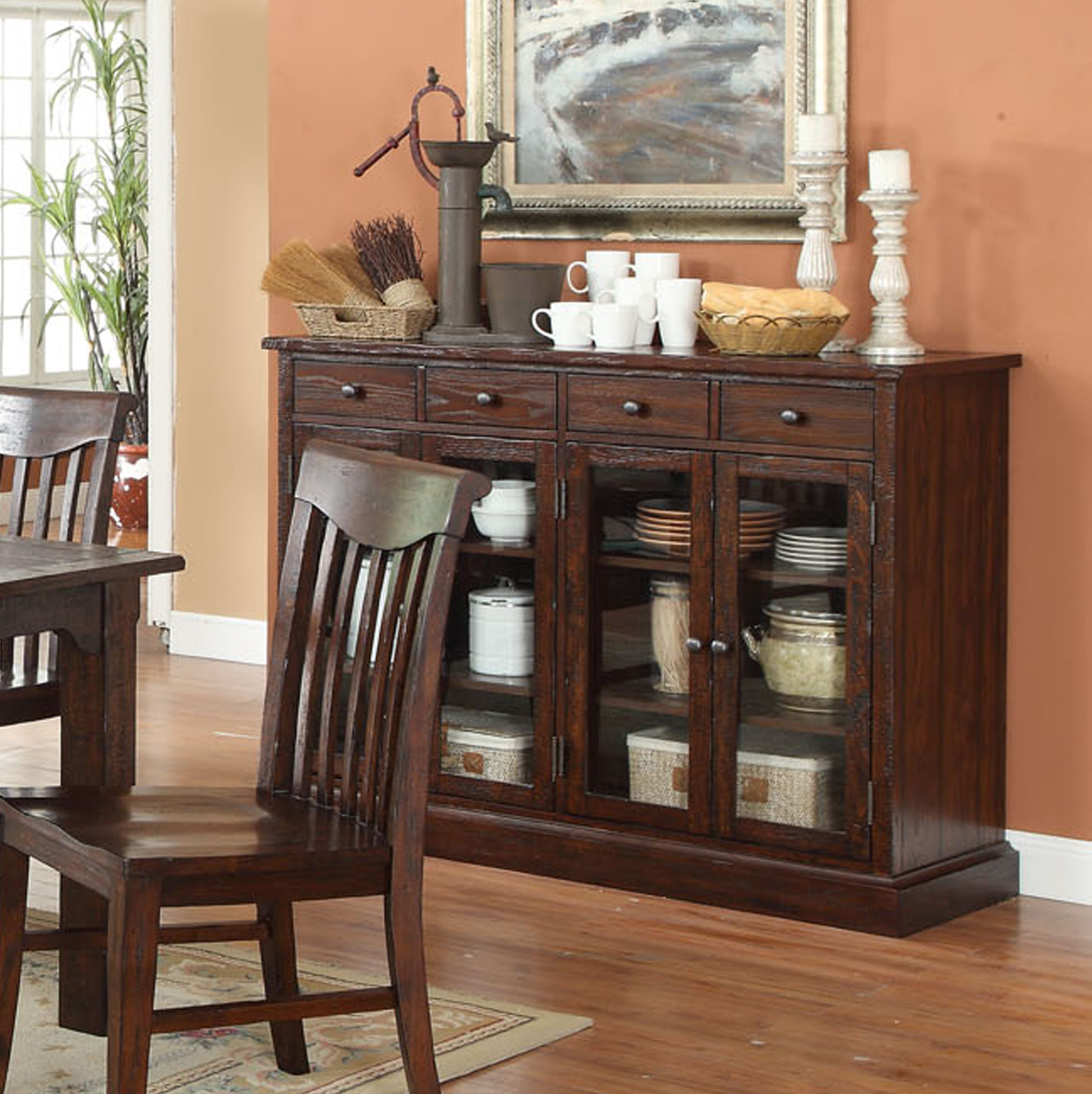 Narrow Dining Room Sideboards | Wayfair Pertaining To Latest Pineville Dining Sideboards (#12 of 20)