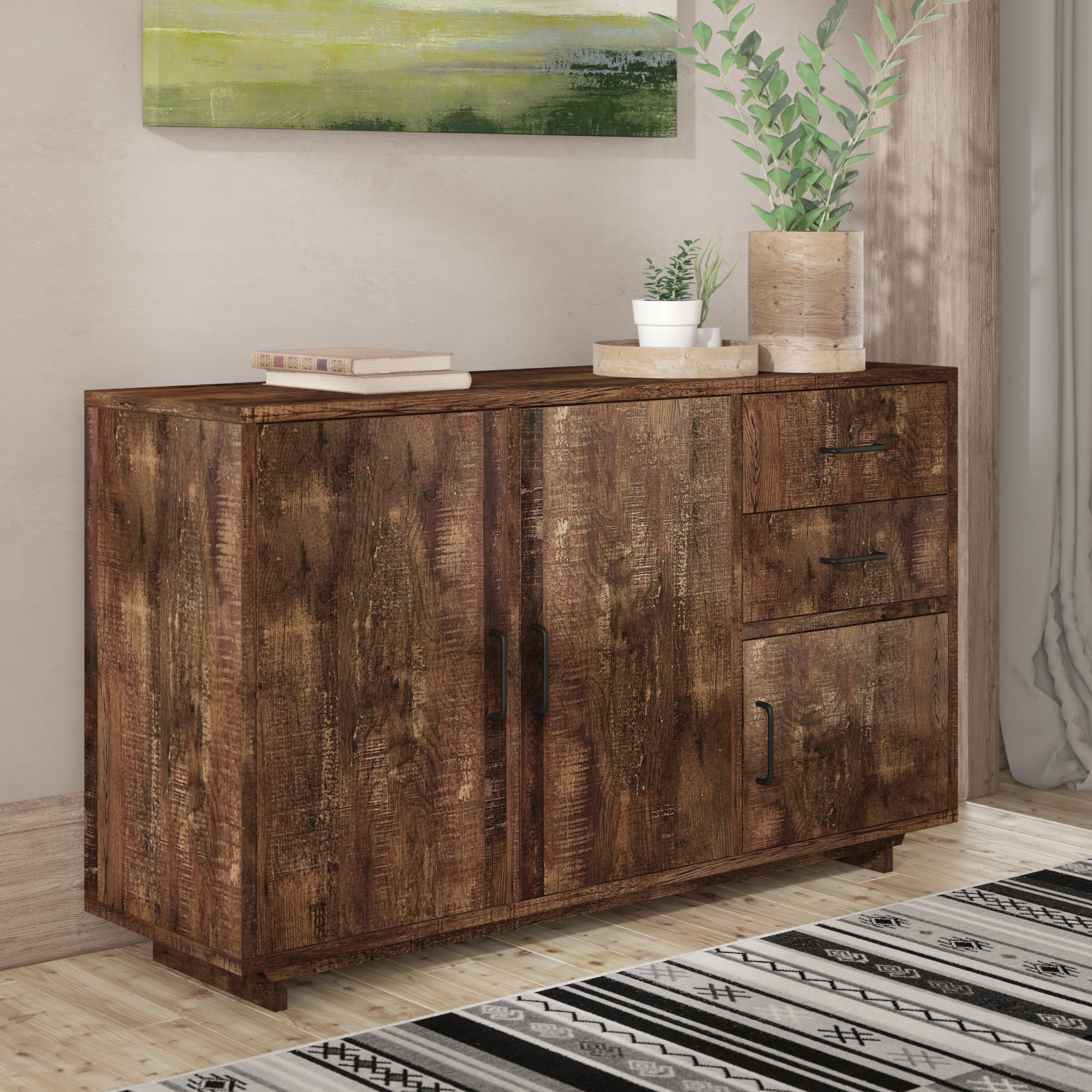 Narrow Dining Room Sideboards | Wayfair With Regard To Most Current Pineville Dining Sideboards (#14 of 20)