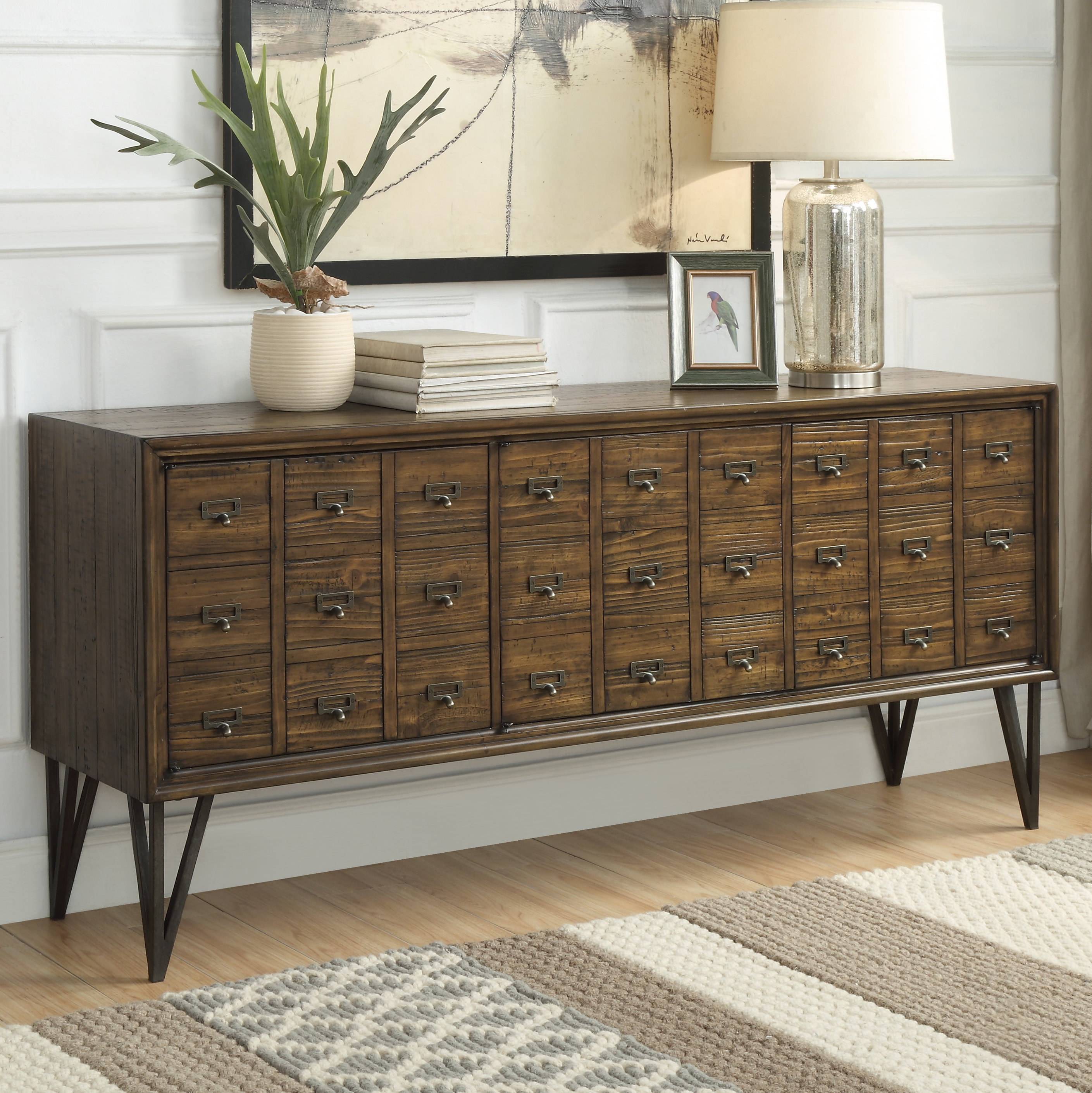 Narrow Dining Room Sideboards | Wayfair Within Current Pineville Dining Sideboards (#15 of 20)