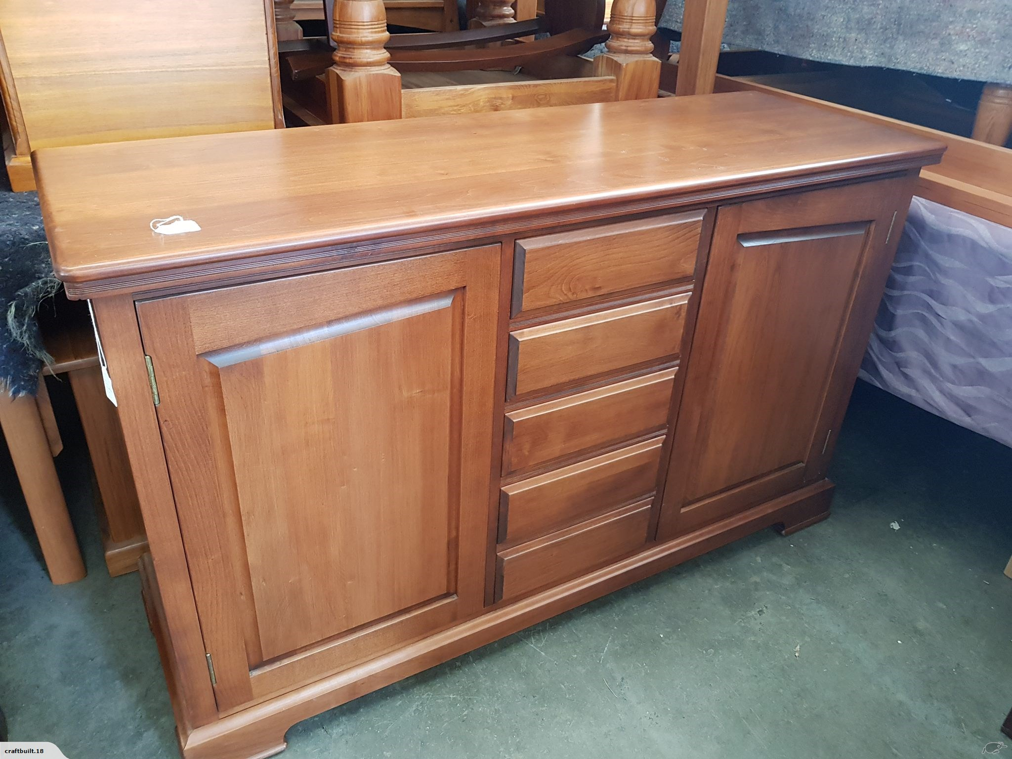 New Beech Buffet * Solid Wood * | Trade Me Pertaining To Recent Drummond 4 Drawer Sideboards (#16 of 20)