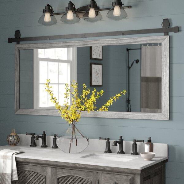Nicholle Bathroom/vanity Mirror Throughout Landover Rustic Distressed Bathroom/vanity Mirrors (#16 of 20)
