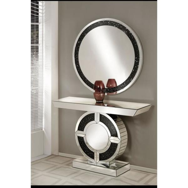Noor Mirrored And Faux Gem Stones Accent Mirror In Accent Mirrors (View 17 of 20)