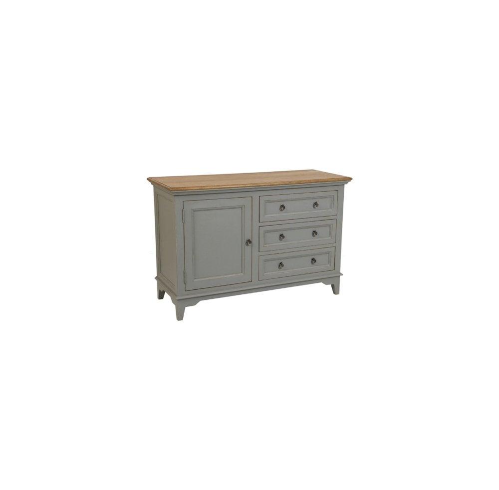 Norton Grey – 3 Drawer 1 Door Sideboard With Recent Norton Sideboards (#10 of 20)