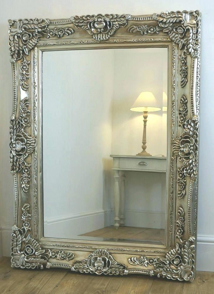 Ornate Wall Mirror Gold Scroll Rectangle Framed West Frames In Rectangle Ornate Geometric Wall Mirrors (#12 of 20)
