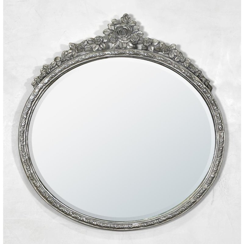 Oval Metal Framed Accent Mirror Inside Oval Metallic Accent Mirrors (#13 of 20)