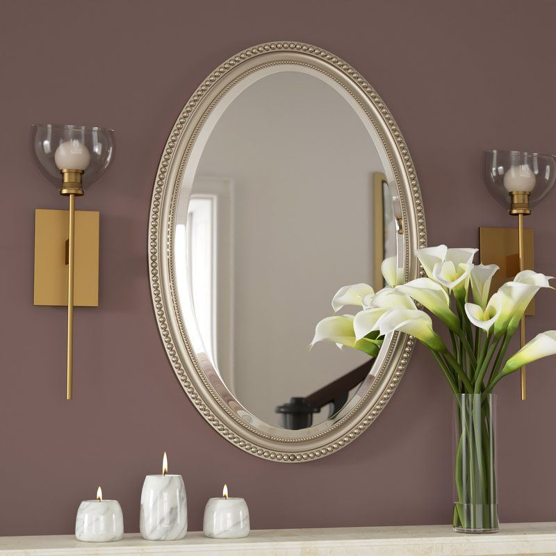 Popular Photo of Oval Metallic Accent Mirrors