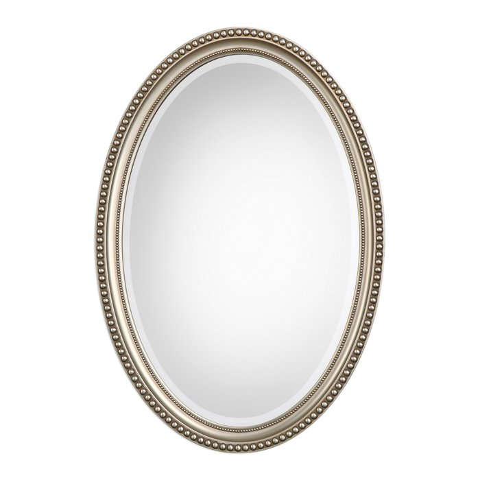 Oval Metallic Accent Mirror Intended For Oval Metallic Accent Mirrors (View 2 of 20)