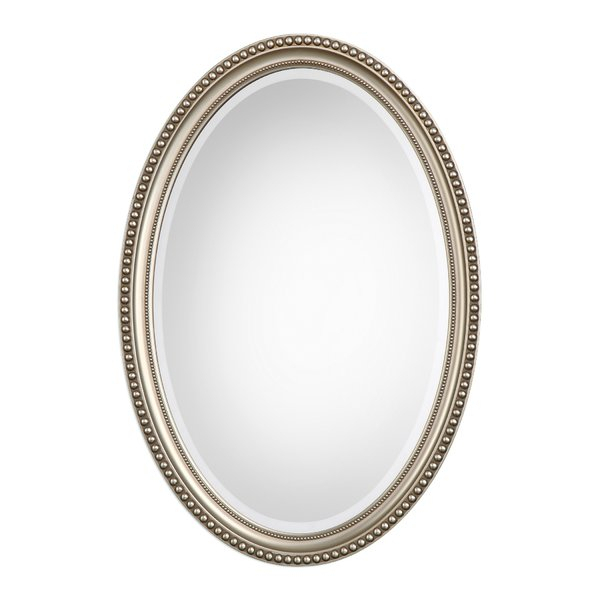 Oval Metallic Accent Mirror Throughout Oval Metallic Accent Mirrors (#17 of 20)