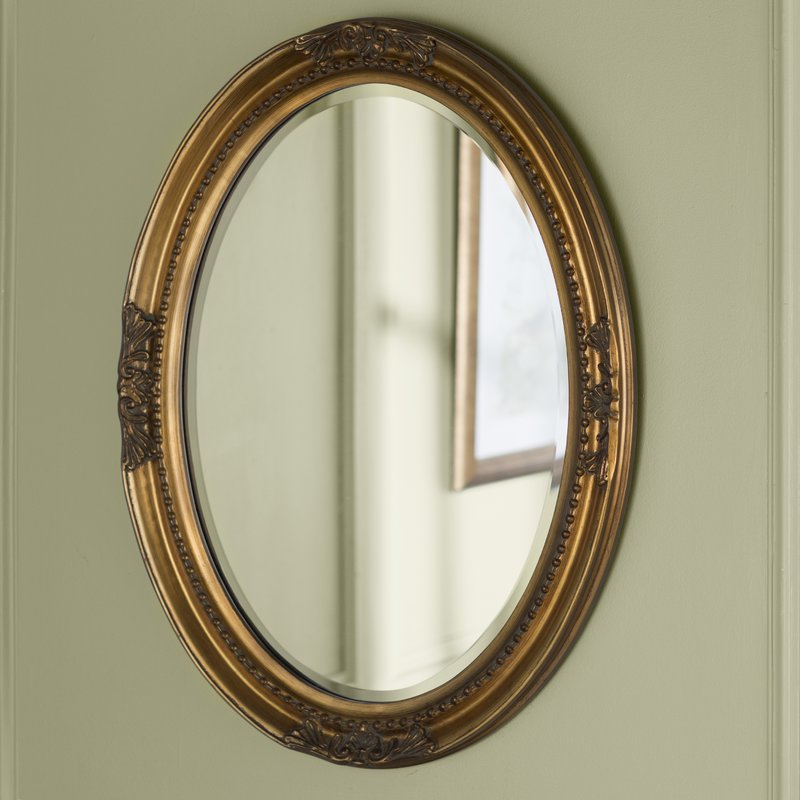 Oval Wood Wall Mirror Within Pfister Oval Wood Wall Mirrors (#6 of 20)