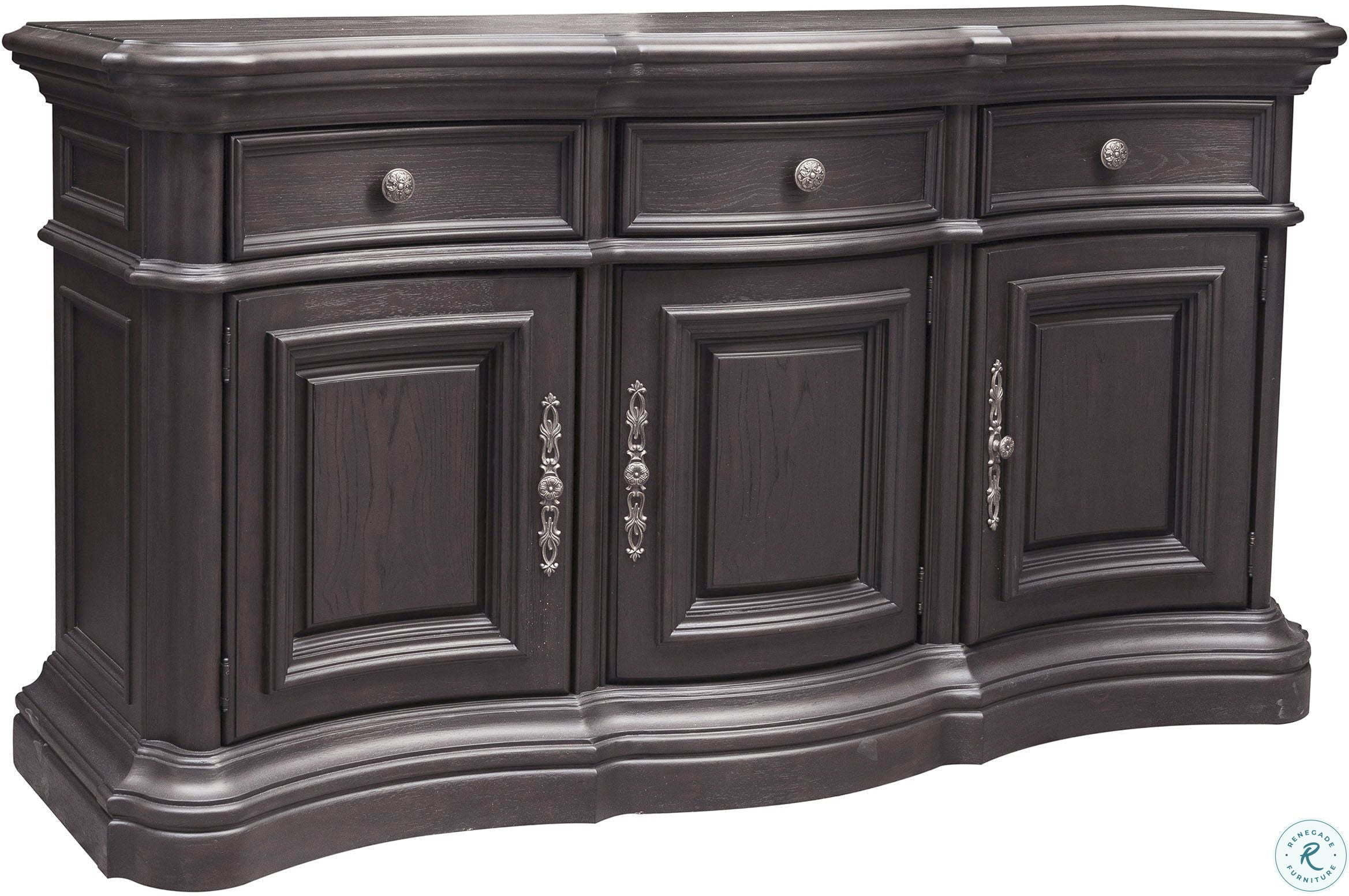 Inspiration about Palisade Distressed Dark Brown Extendable Double Pedestal Dining Room Set Throughout Most Current Palisade Sideboards (#3 of 20)